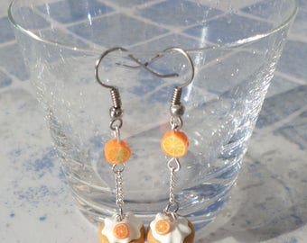 Orange slices and Cup cake earrings