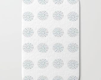 Bath Rug Etsy - Black and white tribal bath mat for bathroom decorating ideas