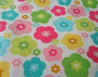 Floral Cotton Fabric / Floral Fabric / Multicolor Flowers Fabric / Patchwork Blouse Dress Sewing Material /Kidswear
