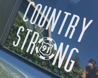 Country Strong Decal