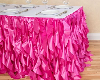 21 Ft. Curly Willow Table Skirt