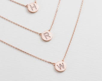 Initial Pendant Necklace (rose gold)