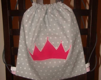 Princess rose grey backpack