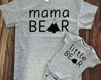 Mama bear, little bear, mom and me set