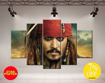 Jack Sparrow, Jack Sparrow canvas, Jack Sparrow art, Pirates of the Caribbean, Captain Jack Sparrow, Pirates canvas, Jack Sparrow print
