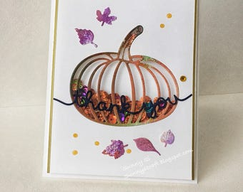 Thank you Pumpkin shaking card
