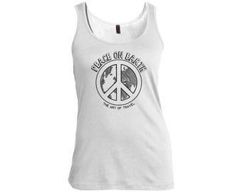 Peace on Earth Women's Scoop Neck Travel Tank
