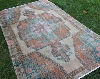 "Floor rug,interior rug.4x6""5ft.home interior rug,hallway rug,turkish rug,area rug,rugs,anatolion rug,carpet, desing rug,office rug,old rug."