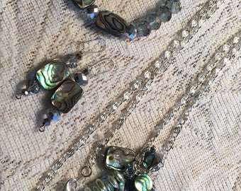 Abalone Jewelry set - Earrings are for purchase separately