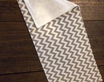 Gray Zig Zag Design Burp Cloths