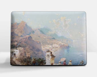 "Laptop skin (Custom size). F. Unterberger, ""The View from the Balcony"". Laptop cover, HP, Lenovo, Dell, Sony, Asus, Samsung etc."