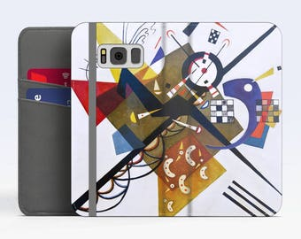 "Vassily Kandinsky, ""On White II"". Samsung S8 Wallet case. Galaxy S7 wallet case. Samsung Galaxy S6 wallet case. iPhone Wallet cases."