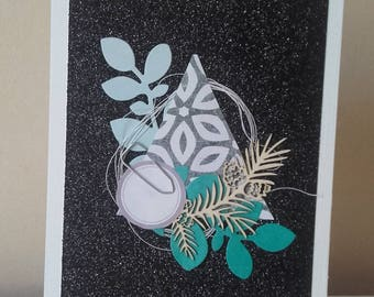 Glitter and Christmas tree card