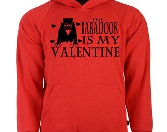 Babadook Valentine's Day Unisex Hoodie Pullover Hooded Sweatshirt Many Sizes Colors Custom Horror Halloween Merch Massacre