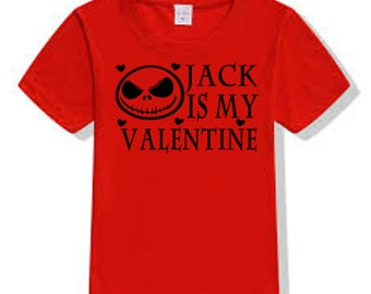 Nightmare Before Christmas Jack Skellington Valentine's Day T Shirt Clothes Many Sizes Colors Custom Horror Halloween Merch Massacre
