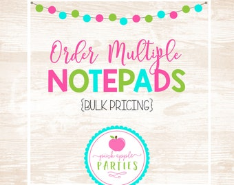 Pink Apple Parties - NOTEPADS - Bulk Pricing & Adjusted Shipping