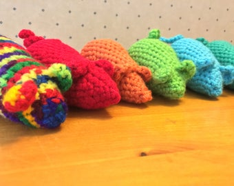 Handmade Catnip Crochet Mouse Cat Toy