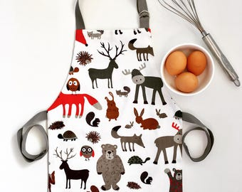 Woodland apron / toddler apron