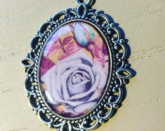 Floral Resin Pendant
