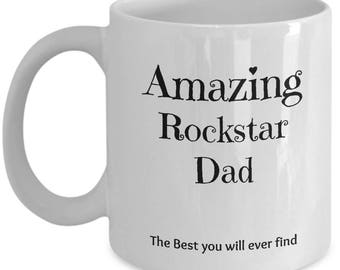 Rockstar Dad Mug - Perfect Gift for any occasions White Coffee Cup 11oz / 15oz