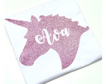 Personalized Unicorn Name T-Shirt or Vest
