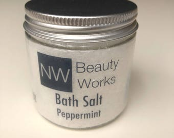 Peppermint | Bath Salt | Relax w/ this 4 oz Bath Soak!