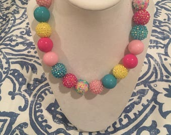 Shiny and bright bubblegum Necklace !