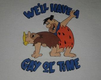 Vintage The Flintstones hanna barbera  t-shirt
