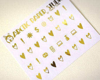 Icons - FOILED Sampler Event Icons Planner Stickers