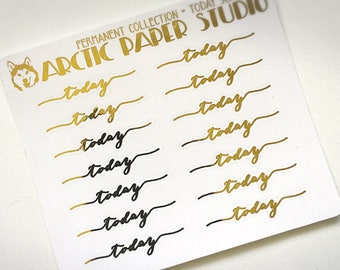 Today Scripts (NS) - Premium Permanent Collection - FOILED Sampler Event Icons Planner Stickers
