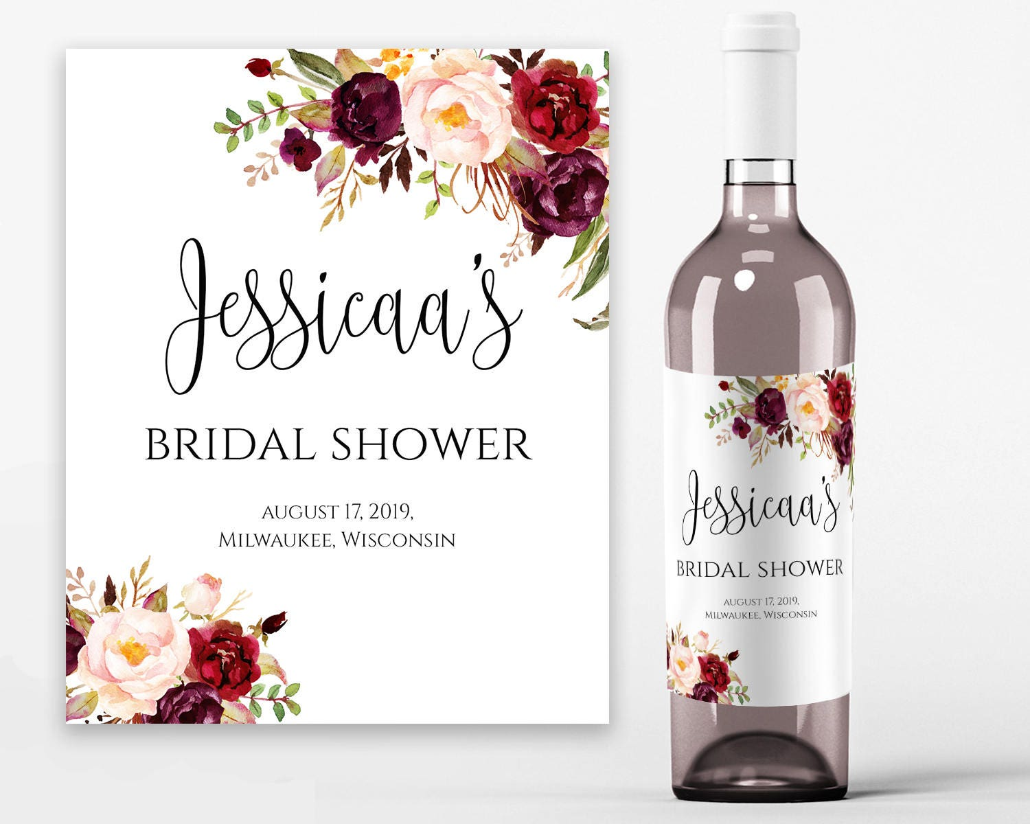 Wine label template yelomdiffusion bridal shower wine labels bridal wine printable wine label template maxwellsz