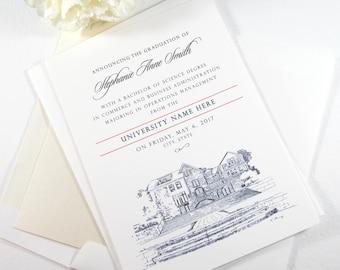George Mason University Graduation Announcement, GMU Grad, Virginia University, State, College, Tech, Graduation Cards (set of 25)