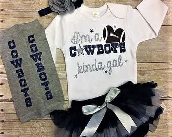 Dallas Cowboys, Dallas Cowboys baby girl, cowboys bodysuit, infant girl cowboys outfit