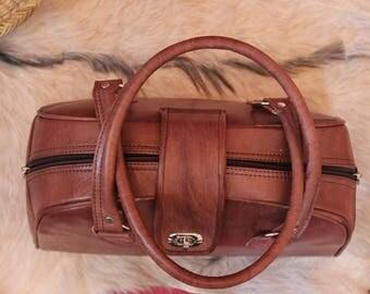 FREE SHIPPING! 100% leather, handbag, women bag leather bag, handmade, handmade bag vegetable tanned leather bag