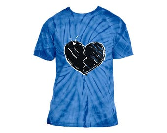 DIVIDE hearts don't break around here tshirt