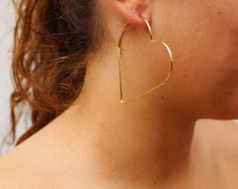 Heart Hoops - Gold