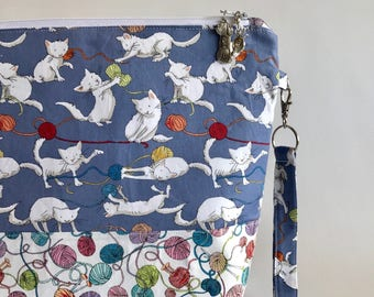 Yarn Cats - Medium sized project bag for Knitting/Crochet