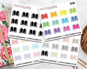 033 | Book // Mini Icon Planner Stickers