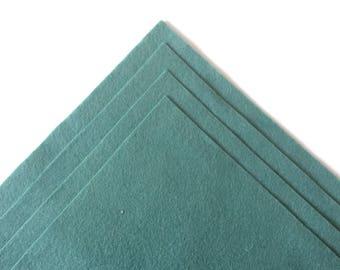 Wool Felt by the Yard / Teal / Blue Spruce