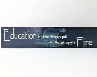 All Seasons Solid Maple Wood Education Sign