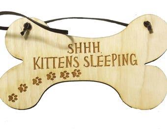 All Seasons SHHH Kittens Sleeping Sign