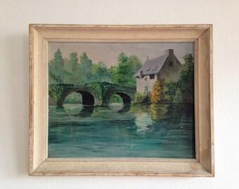 P. Ricaud - France - vintage signed oil painting
