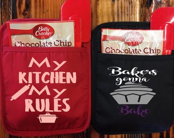My kitchen my rules , bakers gonna bake  svg cooking svg oven mat svg kitchen svg  funny kitchen svg