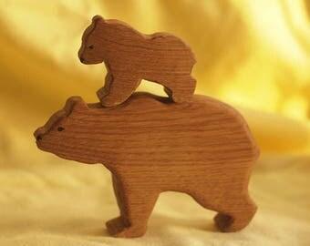 Bear cub with mom