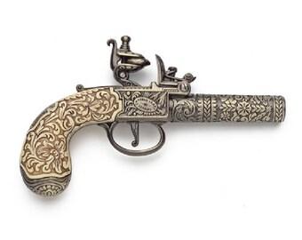 18th Century Ornate Flintlock Pistol Replica