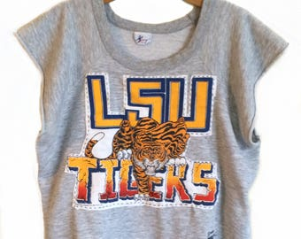 LSU Tiger Shirt - Lsu Sweatshirt - Tiger Sweatshirt - Lsu Shirt Womens - Lsu Shirt Womens - Louisiana Tiger Shirt - Louisiana Gift -