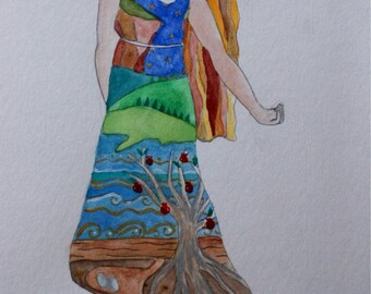 Mother Earth Watercolour Print