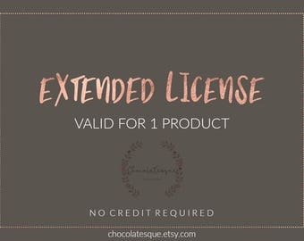 Extended license, one product, no credit license, clip art, graphic resources, design resources, graphics, digital paper, clipart