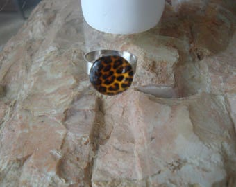 ring silver adjustable Panther