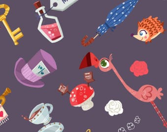 Alice in Wonderland Weighted Blanket - Fleece Backed - Various Weights